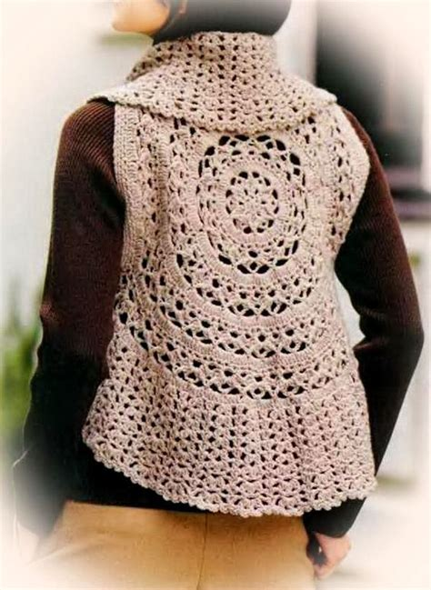 free pattern vest crochet crochet sweaters crochet vest pattern for women circle vest