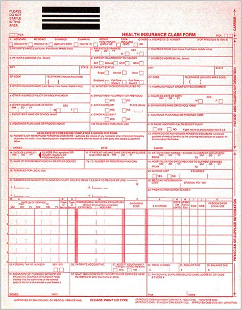 beaufiful 1500 medical form pictures new cms 1500 form 02
