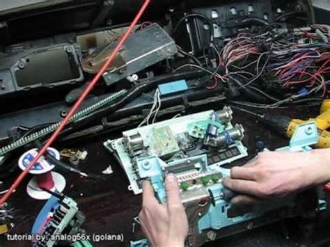 chevy  cable  electric cluster tutorial youtube