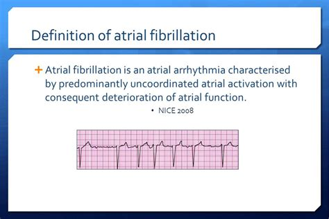 Definition Of A by Atrial Fibrillation And Dm Ppt