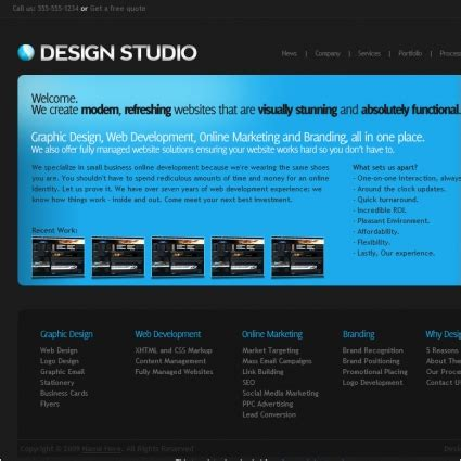 studio templates free design studio template free website templates in css html