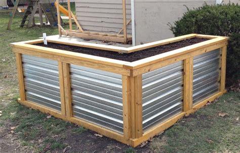 building   watering raised garden bed frugal living