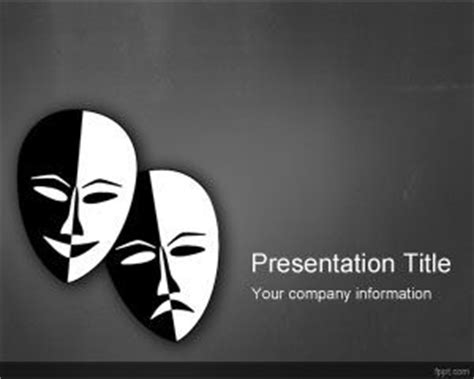 theme exles in drama theater powerpoint template