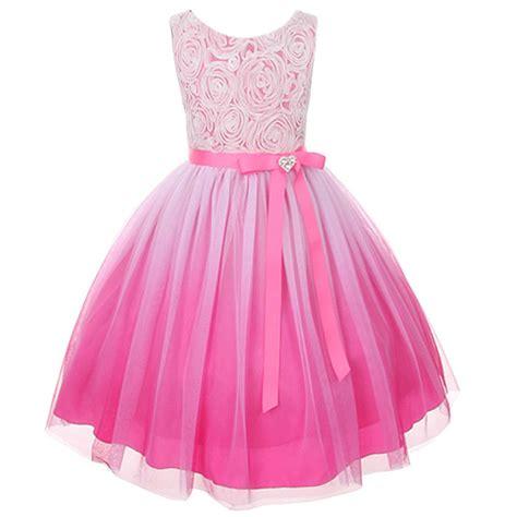 Rubika Dress Lh Var ombre flower dress pageant wedding purple prom bridesmaid ebay