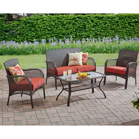 Design For Mainstays Patio Furniture Ideas Mainstays Cambridge Park 4 Outdoor Conversation Set Seats 4 At Garden Sensation