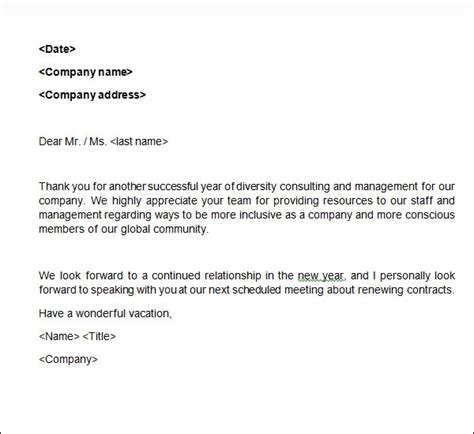 sample business letter templates ms