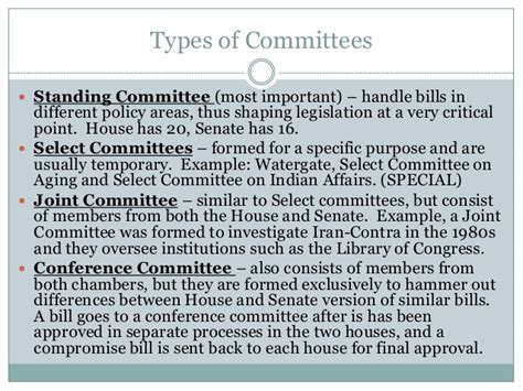 Who Usually Handles Bills On The Senate Floor by Unit 4 Congress