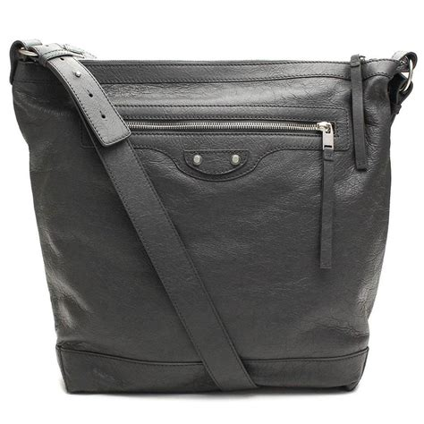 Y 3 Leather Messenger Bag by Balenciaga Classic Grey Lambskin Leather Messenger Bag