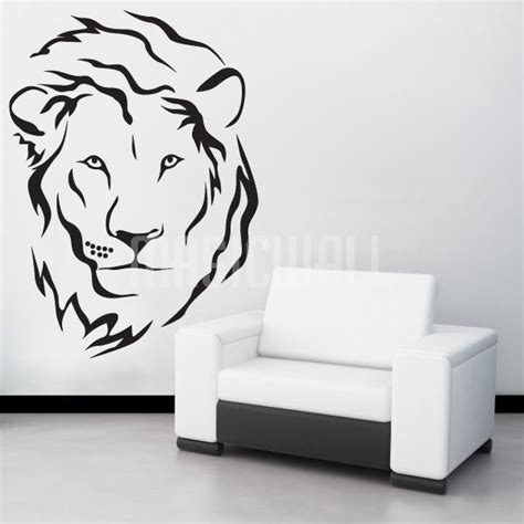Wall Stickers Tree Branches wall decals lion head wall stickers