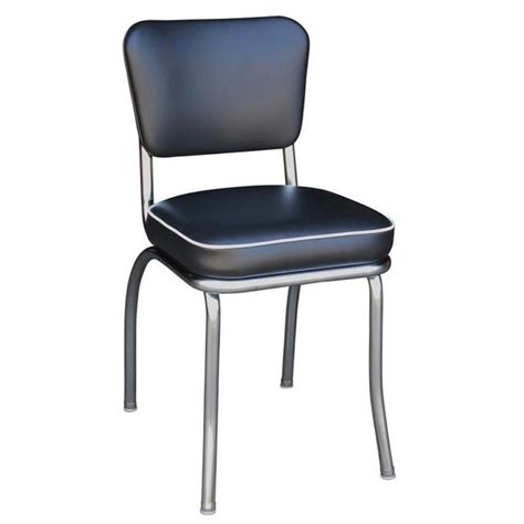 Dining Chairs Chrome Richardson Seating Retro 1950s Chrome Diner Dining Chair In Black 4210blk