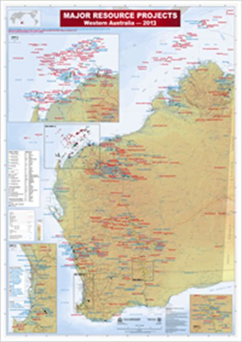 australia resource map major resource projects western australia 2013 wa dept