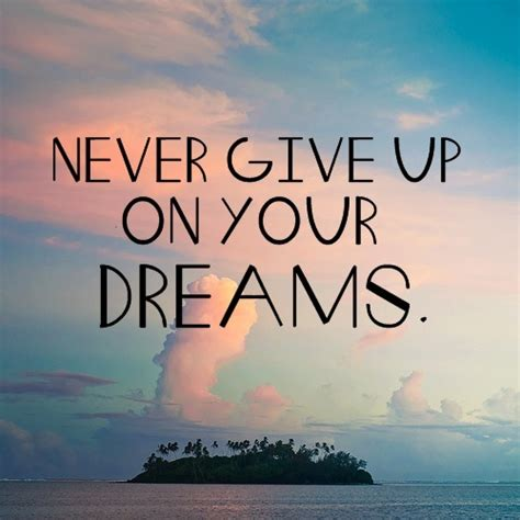 dreams never give up quotes sunset image 1881328 by patrisha on favim