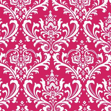fuchsia pink curtains damask floral pink by