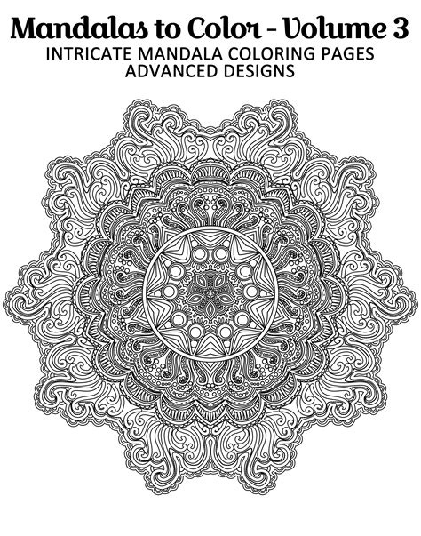 intricate mandala coloring pages free free printable mandala coloring page from mandalas to