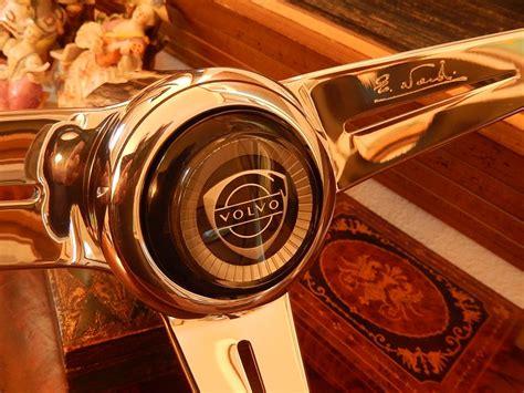 volvo p  wood steering wheel deep dish nardi original horn push boss nos ebay