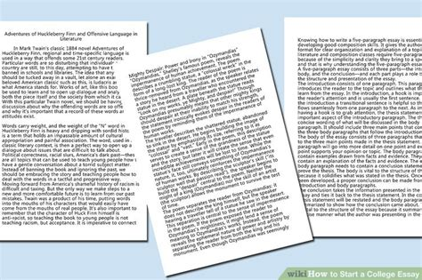 Forbidden Words In Essays by 5 Easy Ways To Start A College Essay With Pictures