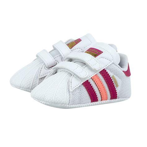 new adidas originals superstar shelltoe baby white pink crib shoe size 1 3 ebay
