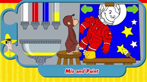 painting curious george curious george mix and paint curious george
