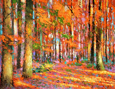 acrylic painting with knife product reviews quot golden autumn quot impressionism with