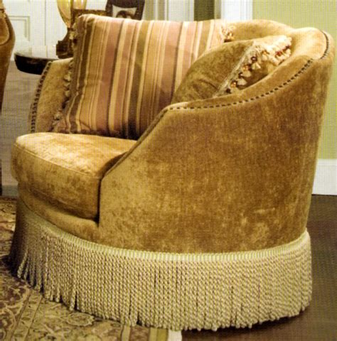 Kidney Shaped Sofa With Fringe Hereo Sofa