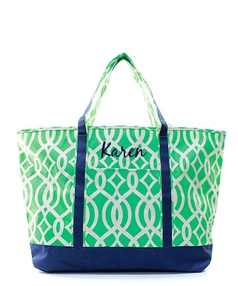 personalized xl  oversized beach boat tote bag