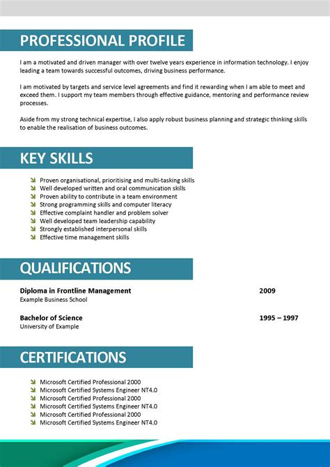 Resume Template For Docs by Professional Resume Format Doc Schedule Template Free