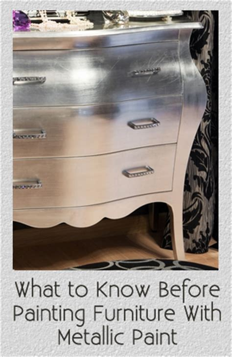 what to before painting furniture with metallic paint