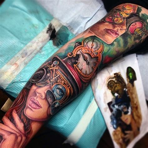 sick sleeve tattoo designs 75 steunk designs for masculine machinery