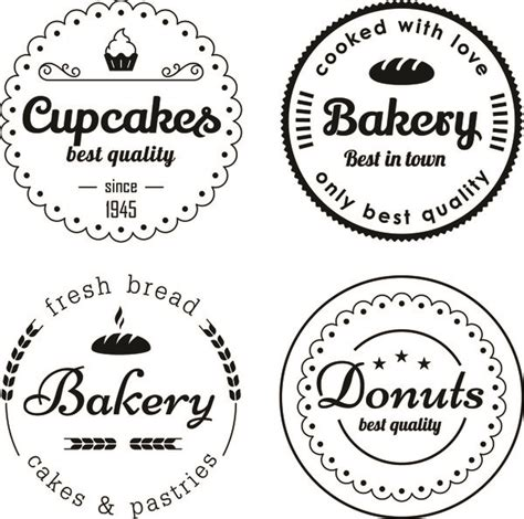 cupcake circle template bakery and cupcake circles labels vector vector label