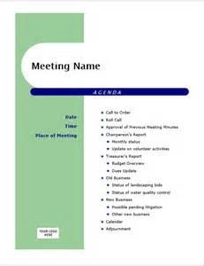 creative meeting agenda sle template guidelines