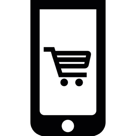application for mobile phone shopping application on mobile phone icons free