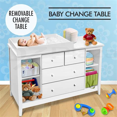 Baby Change Table Chest Of Drawers Change Table Baby Chest Of Drawers Dresser Cabinet Changer Nursery Ebay