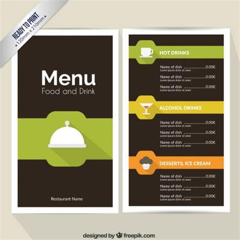Word Vorlage Getränkekarte Speise Und Getr 228 Nkekarte Der Kostenlosen Vektor