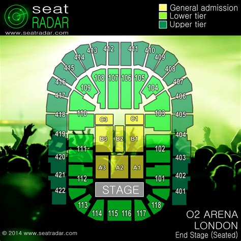 floor plan of o2 arena o2 arena london end stage seated