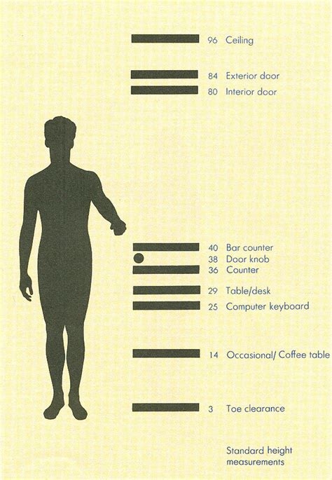 Average Closet Rod Height by Ergonomic Guidelines