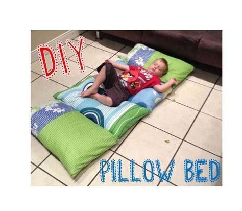 diy pillow bed diy kids pillow bed