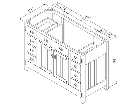 Bathroom Cabinet Measurements by Unique Sink Vanities Bathroom Vanity Dimensions Standard