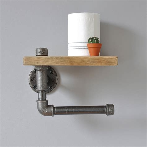 toilet roll holder industrial toilet roll holder and shelf by m 246 a design