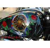 Custom Airbrush Paint Motorcycle Designs Floral Roses By Bad Ass