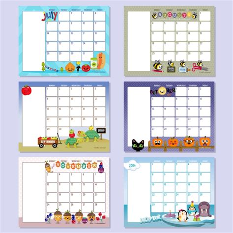 free preschool calendar template printable calendar template 2016 for teachers calendar