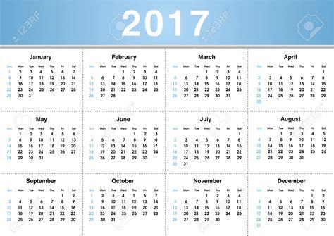 calendario 2017 con semana 2017 calendar printable
