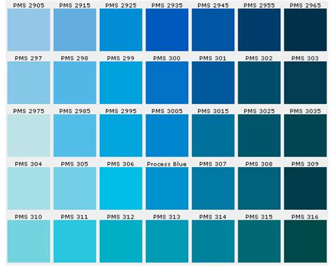 blue color chart pictures to pin on pinsdaddy