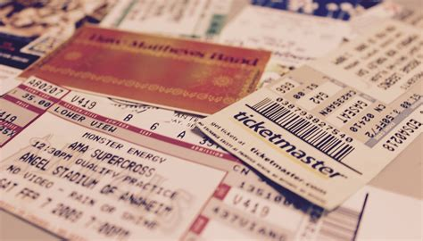 how do you become a ticketmaster verified fan 20 diy ticket stub arts crafts ideas ticketmaster