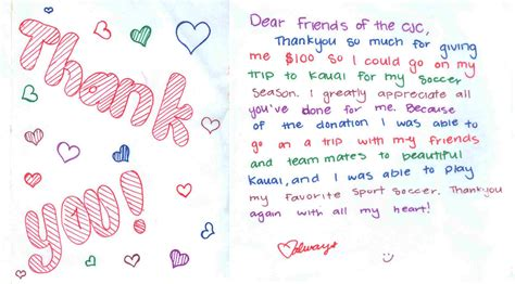 thank you letter to child s thank you letter to child s 28 images fpu helps buy