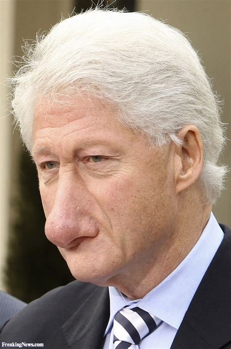 s nose is bill clinton s nose surgery pictures freaking news