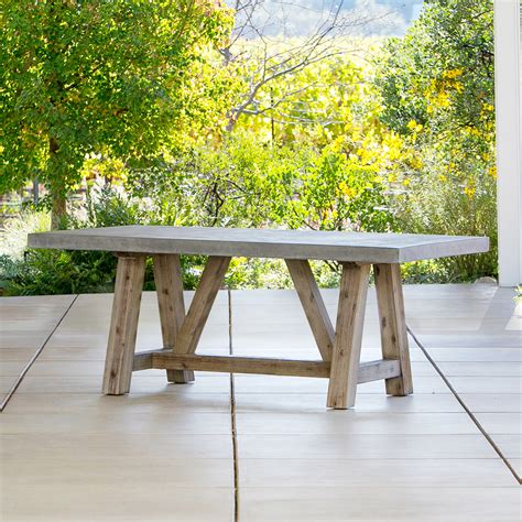 concrete patio furniture bordeaux concrete top table outdoor furniture terra patio