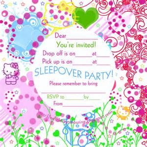 invitations for sleepover
