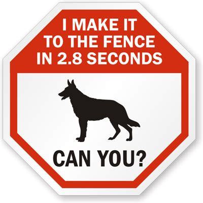 signs of in dogs guard sign make it to the fence in 2 8 seconds sku k 9805