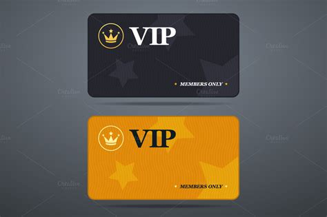 Vip Membership Card Template by Vip Card Template Illustrations On Creative Market