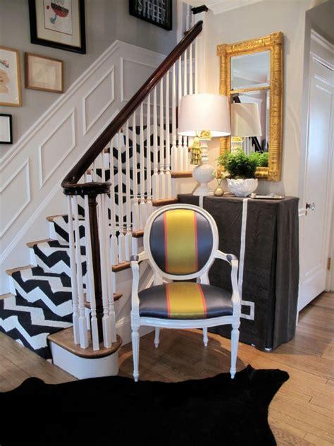 dekorieren mit rindsleder teppich m 228 rchenhafte treppenteppiche bringen kolorit